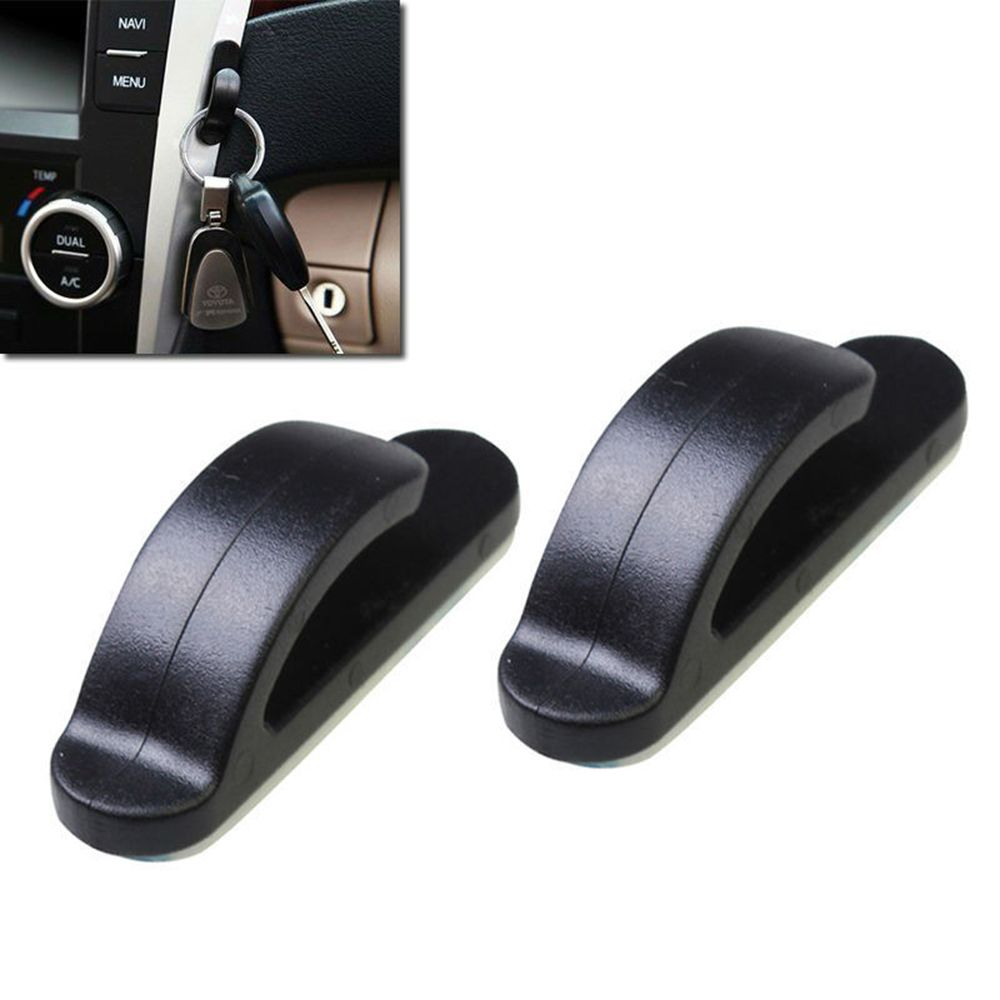 2 PCS ABS Plastic Car Holder Convenient Mni Car Hook Vehicle Hangers Black Auto Car Bag Hook Holder Car Coat Hanger