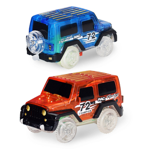 1pc Electronics Cars Toys With Flashing Lights Educational Toys For Children Boys Birthday Gift Boy Play Track Toy Car(China)
