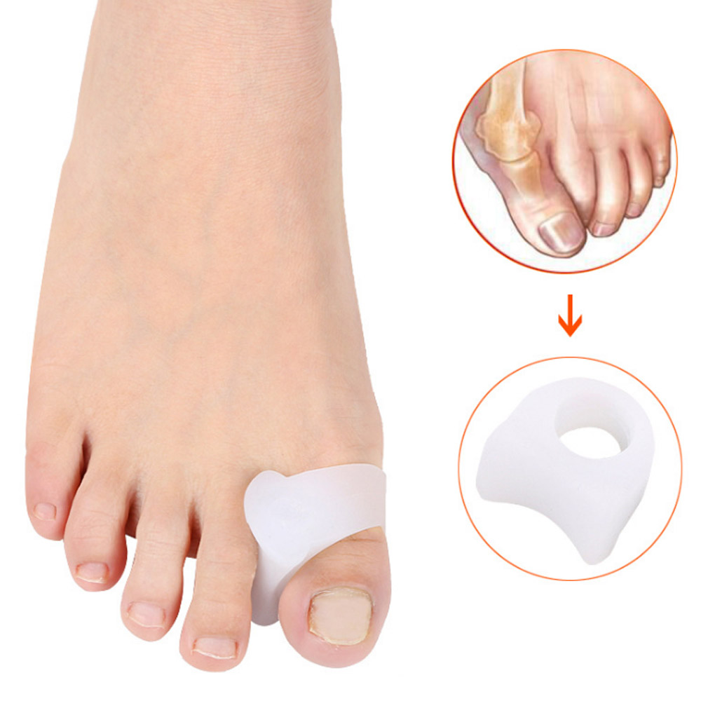 2Pcs Big Toe Separator Bone Corrector Straightener Silicone Gel Foot Fingers Protector Bunion Adjuster Feet Massager Pedicure