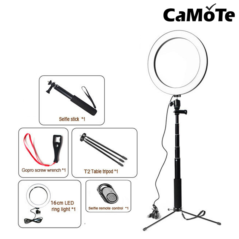 10 2inch 26CM LED RingLight With Cell Phone Holder   Tripod Stand for Live Stream Makeup YouTube Video Photography Camera Photo