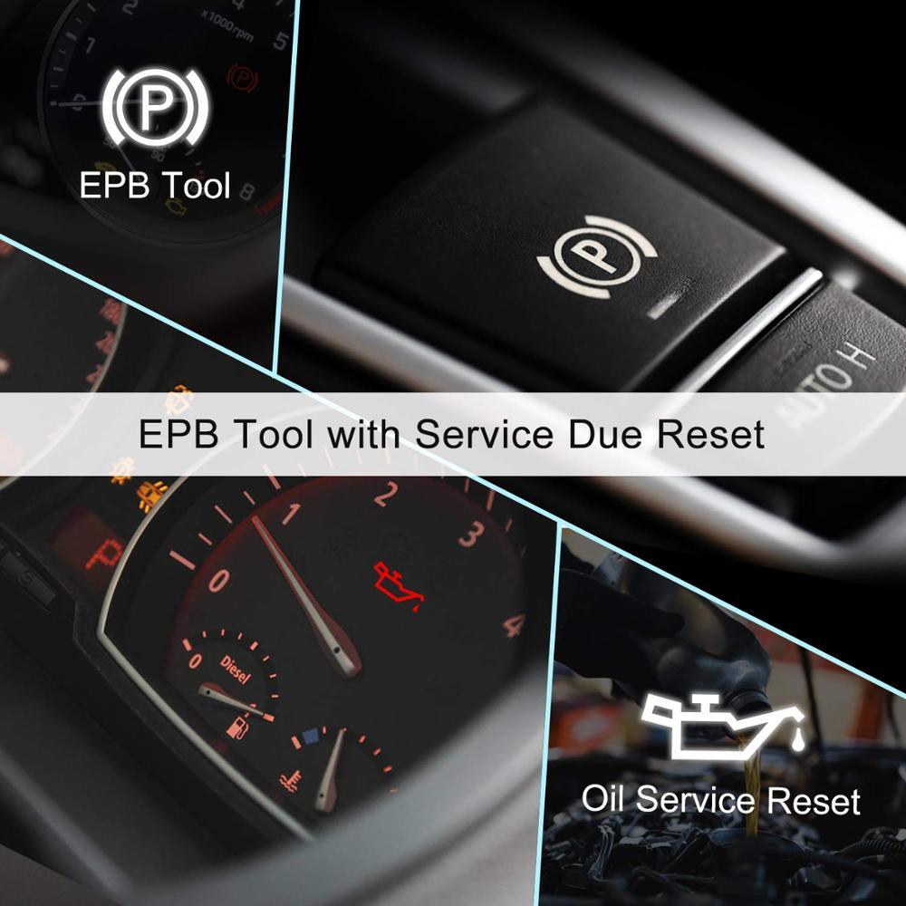 Image 4 - Foxwell NT614 Elite OBD2 автомобильный диагностический инструмент OBD2 считыватель кодов ENG/ABS/SRS/SAS + EPB/масляный Сервис Сброс ODB2 OBD2 автомобильный сканер-in Считыватели кодов и сканирующие инструменты from Автомобили и мотоциклы on