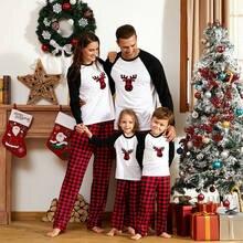 Новинка 2020 семейные рождественские пижамы топы с оленем для
