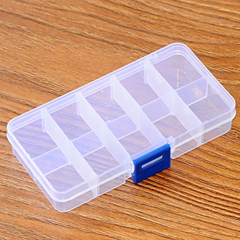 Tackle Box Grid Receive A Box Adjustable Plastic Box Makeup Receive Cosmetic Boxes Containing Box Jewelry Box