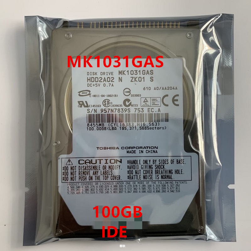 New HDD For Toshiba 100GB 2.5