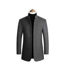 Mens Tweed Coat,Mens Trench Coat Jacket,Middle-aged Dads Coat,collar Coat,Middle-aged and Old Wool Coat,Tweed Men
