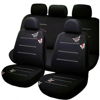 Interior Accessories 4pcs/9pcs fabric  car seat cover universal accessories set for Seat Protector