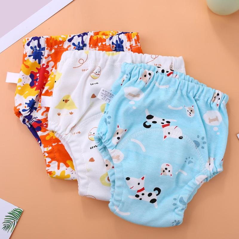 Kids Training Cloth Diapers Pants High-quality Waterproof Lightweight Portable Lovely Cartoon Print Changing Diapers Nappy