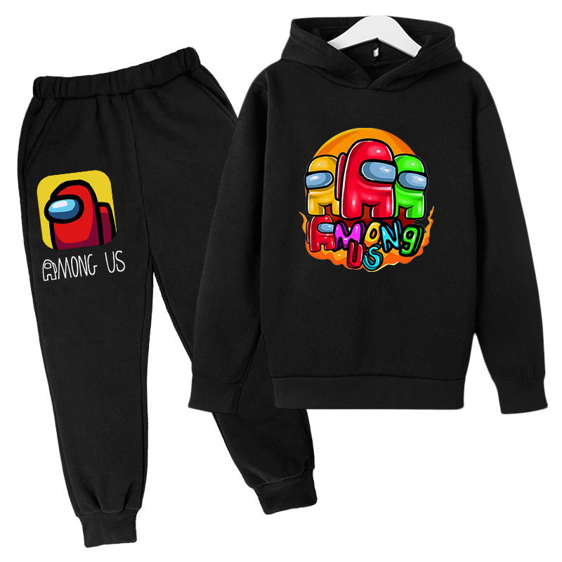2021 Spring New Hoodie Suit Cotton Kids Hoodie And Pant Two-piece Children Clothing Set 4-14 Years Girl Boys Clothes