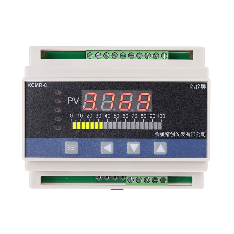 4-20mA DC Input Din Type Water Liquid Level Pressure Controller With 4 Ways Relay And DC24V Voltage Output Liquid Level Meter