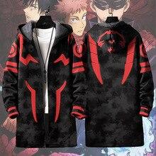 Jacket Anime Jujutsu Kaisen Itadori Women Outwear Tops Wind-Coat Hooded Fushiguro Megumi
