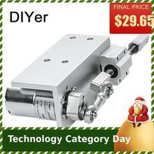 330DIY дизайн линейный привод 12 в 24 в возвратно-поступательный цикл мини DC мотор-редуктор 12/24 в 20 мм ход линейный привод для секс-машины