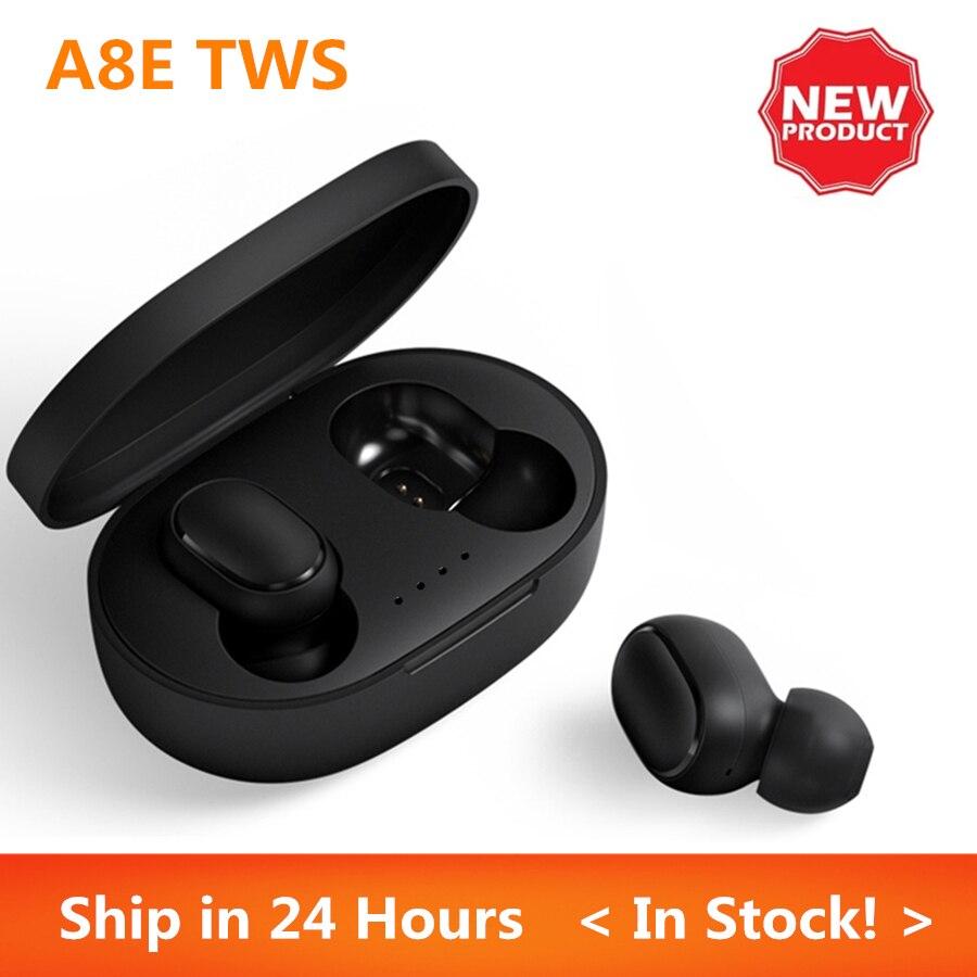 A8E TWS Wireless Bluetooth 5.0 auricolari cuffie da gioco con microfono cuffie auricolari sportivi Wireless per Xiomi PK Redmi Airdots 2 S