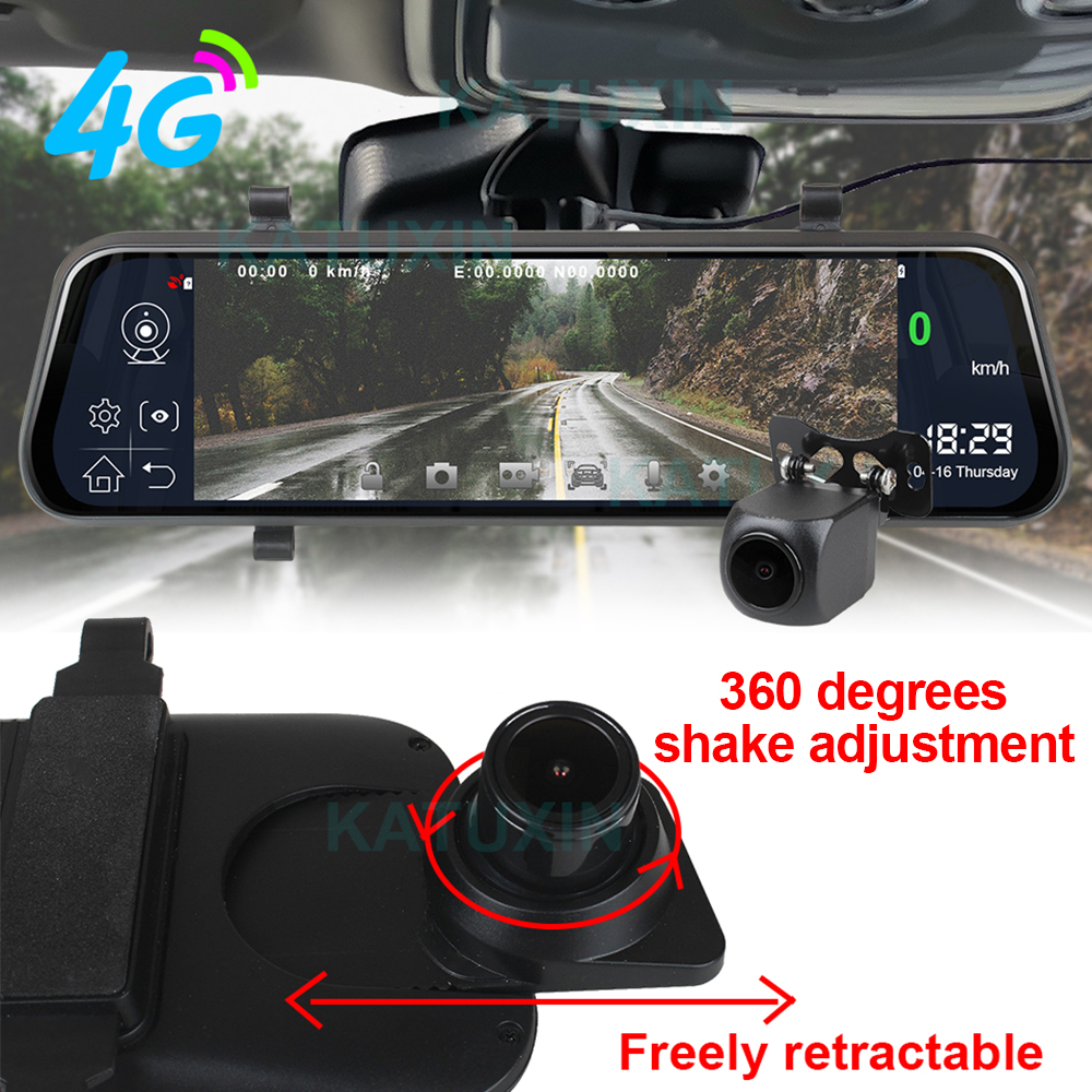 "KATUXIN 10"" Touch 4G ADAS Android 8.1 Mirror Dash Cam GPS Nav WIFI Bluetooth Streaming media Rear View Mirror DVR Recorder T991 3"