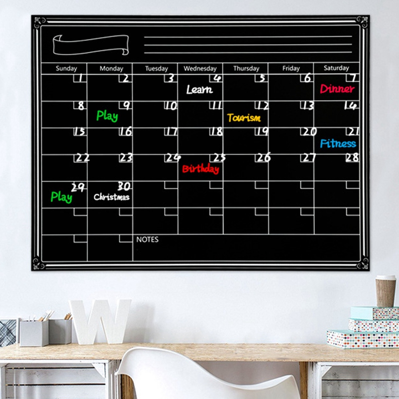 A3 Whiteboard Monthly Planner Magnetic Message Board Kitchen Daily Flexible Bulletin Memo Boards Fridge Magnet Drawing Calenda