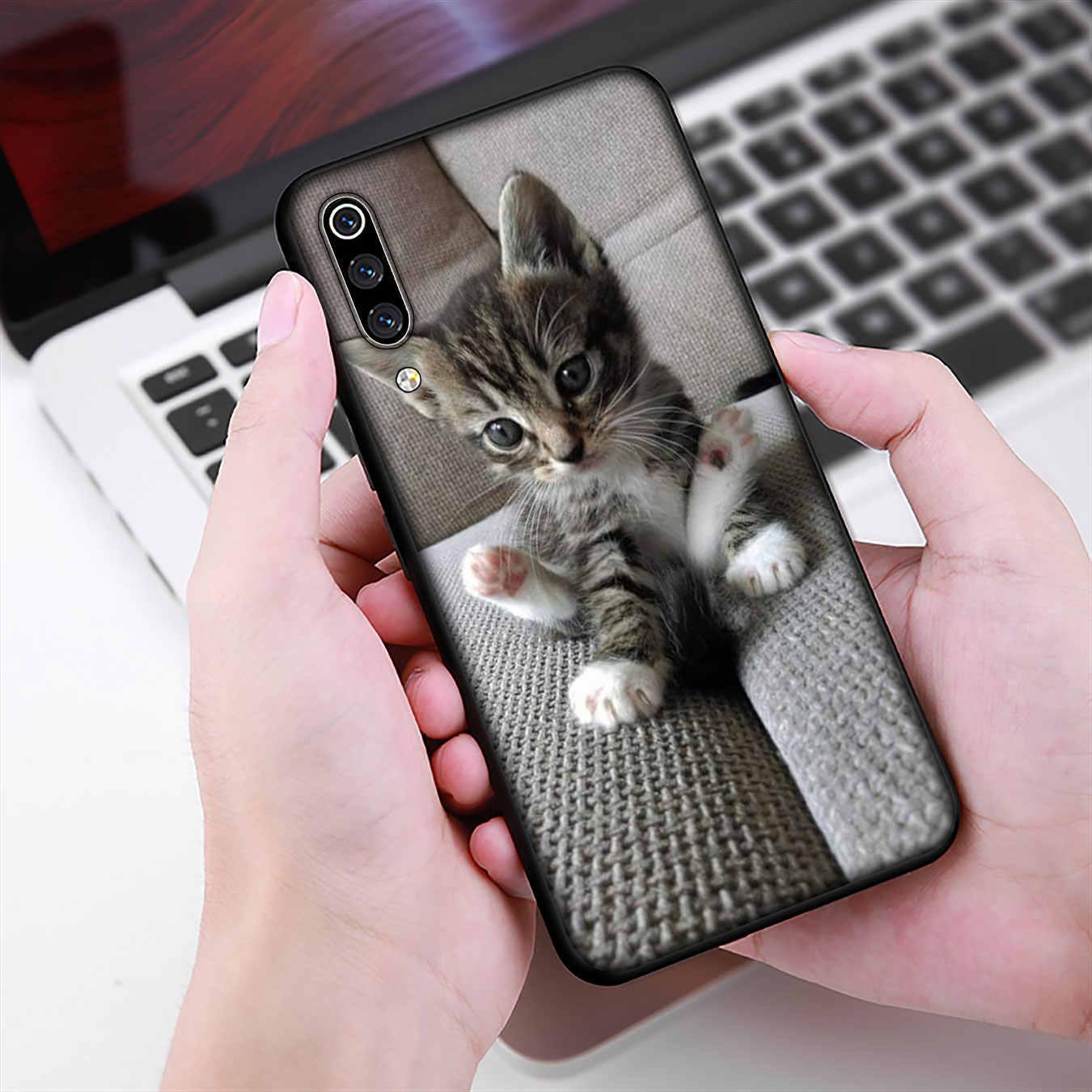 IYICAO lindo gato suave TPU caja del teléfono de silicona para Xiaomi Redmi K20 S2 ir 8A 7A 6A 5A 5 Plus 4X Nota 8 7 6 Pro