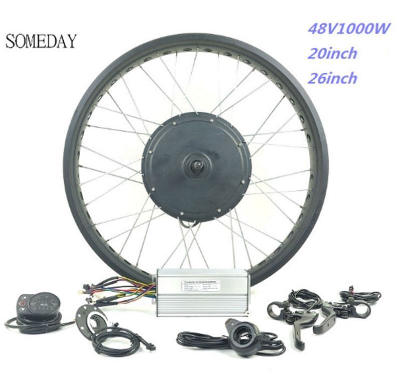 48V 1000W fett ebike schnee ebike elektro-fahrrad conversion kit 20 zoll 26 zoll rad hinten drehen hub motor LED900S display