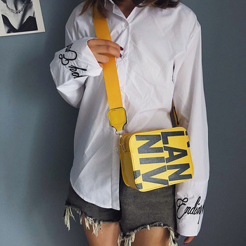 bags for women Womens Bag Crossbody Square Sling New Fashion Korean-Style Wide Shoulder Strap Disco
