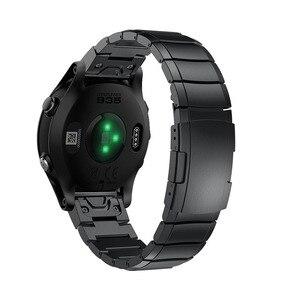Image 2 - 26 22ミリメートル時計バンドストラップガーミンフェニックス5X 5プラス3 3HR腕時計クイックリリースステンレス鋼手首フォアランナー935/945のための