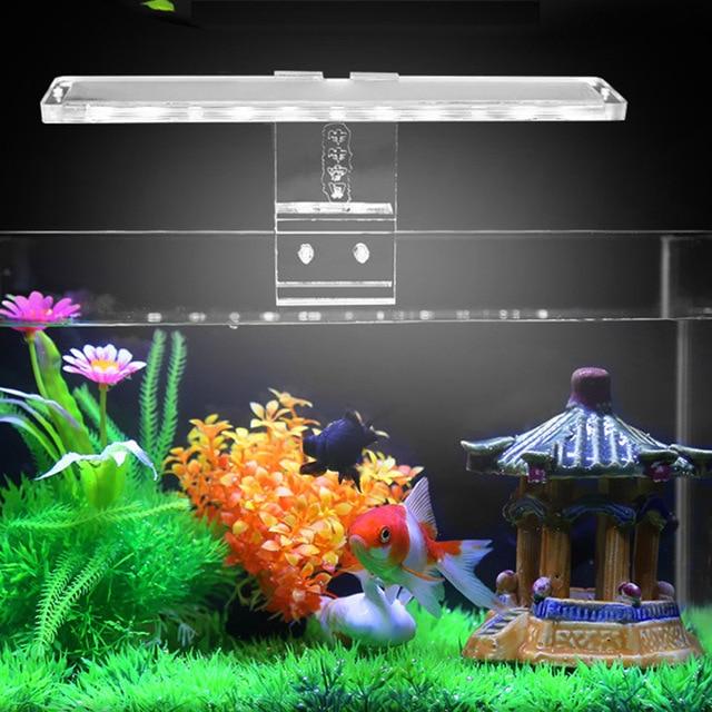Fish & Aquatic Pet Supplies LED Aquarium Lamp Plant Light Fits Tanks 3-8MM Thickness Aquatic Lamp Aquarium Bracket Light Hot 4
