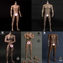 WorldBox AT012 AT011 AT032 AT025 AT027 1/6 Male Muscle Body Action Figure Model Durable Doll Toys for 1/6 HT DID Head