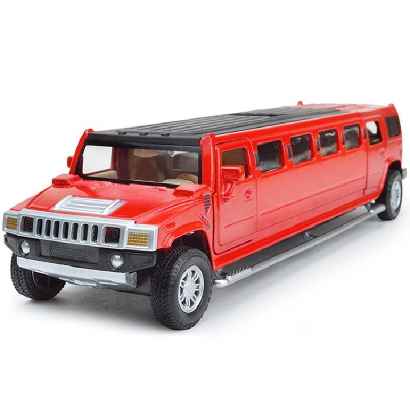 high simulation 1 32 alloy hummer limousine metal diecast car model pull back flashing musical kids