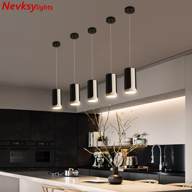 Minimalist <font><b>pendant</b></font> lamps dining black shade loft <font><b>pendant</b></font> lamp kitchen fixture led <font><b>pendant</b></font> <font><b>lights</b></font> kitchen island hanging lighting image