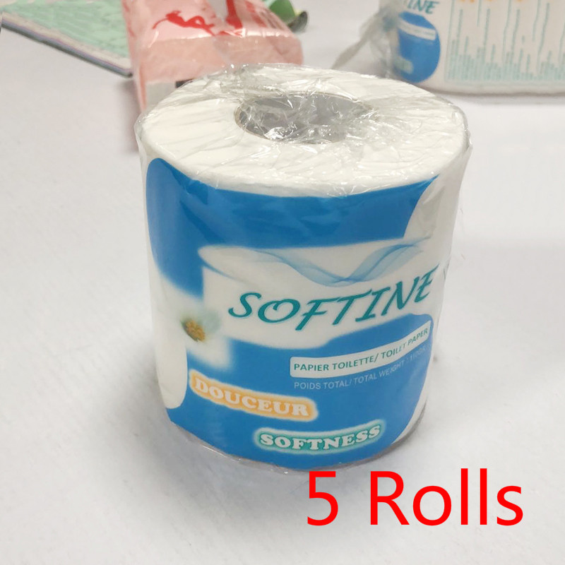 5Rolls Toilet Paper 3-Ply Silky & Smooth Soft Professional Series Premium Toilet Paper Home Kitchen Toilet Tissue High Quality