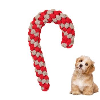 Kule w kształcie zabawki dla zwierząt domowych z kreskówkowym psem boże narodzenie słodycze zabawki interaktywne dla zwierząt domowych odporne na zużycie szczenięta dla ząbkujących szczeniąt narzędzia artykuły dla zwierząt tanie i dobre opinie ISHOWTIENDA CN (pochodzenie) cotton 1005 wholesale