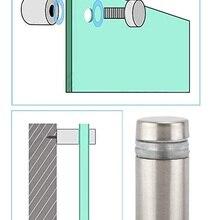 20 шт./лот акриловая стеклянная стойка из нержавеющей стали стенд для рекламных дисплеев настенный разделитель