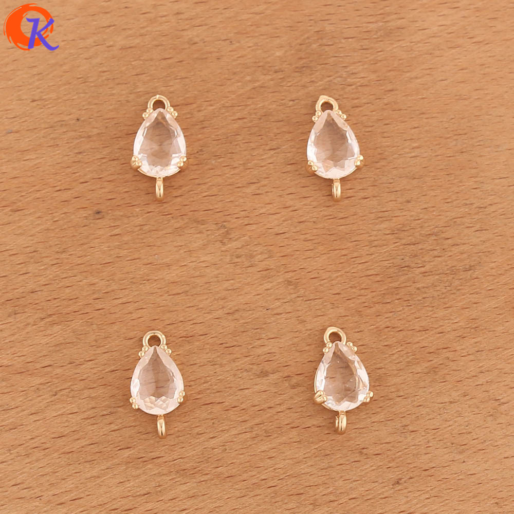 Image 5 - Cordial Design 50Pcs 6*13MM Jewelry Accessories/Crystal Connectors/Drop Shape/Hand Made/Earring Findings/DIY Jewelry MakingJewelry Findings & Components   -