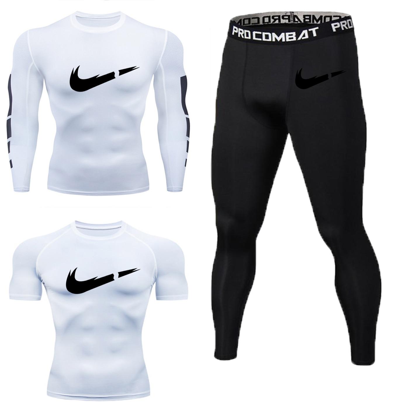 Full Set Of Men's Sportswear Fitness Sportswear Sportswear Running Jogging Sportswear Sportswear Sports Tights