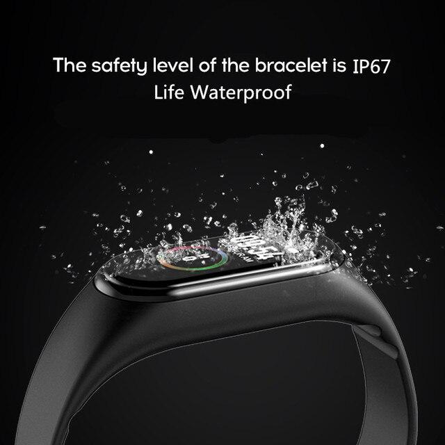 Nowy M4 Smart Band Monitor aktywności fizycznej w zegarku tętna Monitor ciśnienia krwi bransoletka kolor dotykowy Sport zegarki damskie męskie