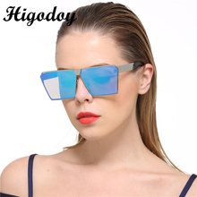 Higodoy Retro Luxury Vintage Women Square Sunglass Ladies Metal Oversized