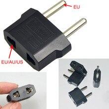 Универсальный США в ЕС штекер США в Европу путешествия Сетевой адаптер питания Выход адаптер конвертер 2 Круглые розетки вход Pin#2