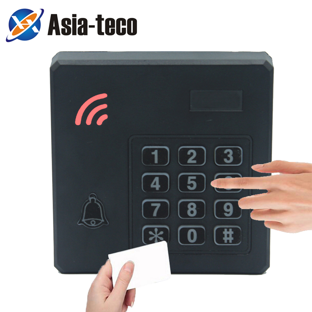 Waterproof RFID 125Khz 13.56Mhz ID IC Reader 2000 Users Proximity Entry Door Lock Entry Access Control Keyboard