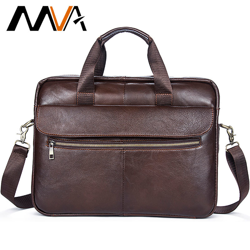 Mva Men's Briefcase Genuine Leather Bag Men Messenger For Man Business/computer/office/briefcase Bag Laptop For Men 14 Inch 1117