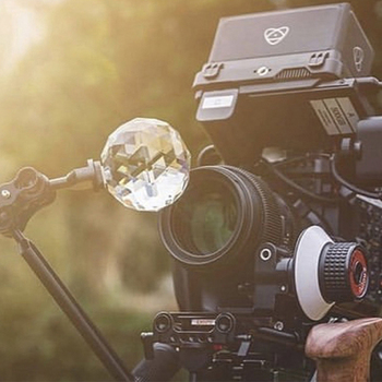Crystal Prism DIY Photography Studio Accessories Crystal Prism Ball With 1/4'' Screw Beam Splitting kaleidoscope Lens Filter mini prism with 4 poles replace leica gmp111