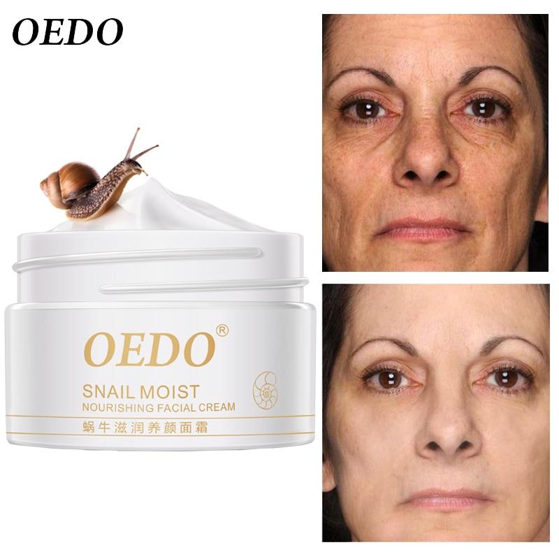 Snail Face Cream Collagen Anti-Wrinkle Whitening Facial Cream Hyaluronic Acid Moisturizing Anti-aging Nourishing Serum Skin Care-0