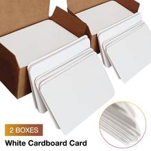 200Pcs/pack Blank Playing Card Hard Paper Card Paper DIY Board Game Postcard Paper Hand-painted Postcards White Cardboard(China)