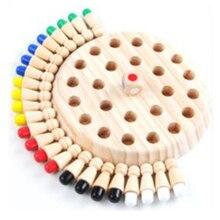 Ahşap hafıza çubuğu satranç oyunu eğlenceli blok kurulu oyunu eğitim renk bilişsel yetenek aile oyuncakları çocuklar parti oyunu çocuklar için