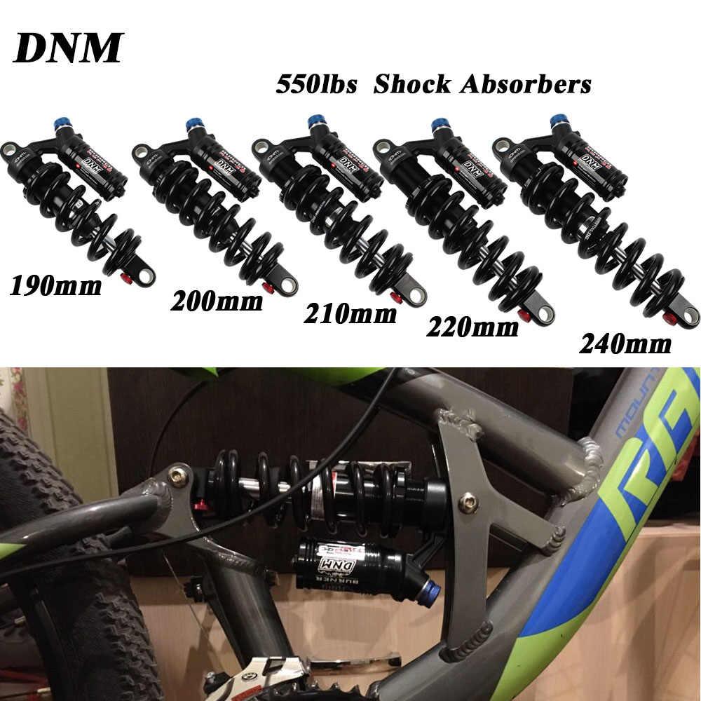 2019 nuevo DNM montaña cuesta abajo bicicleta bobina de choque trasero MTB bicicleta de montaña 190mm 200mm 210mm 220mm choque trasero DNM de 240mm