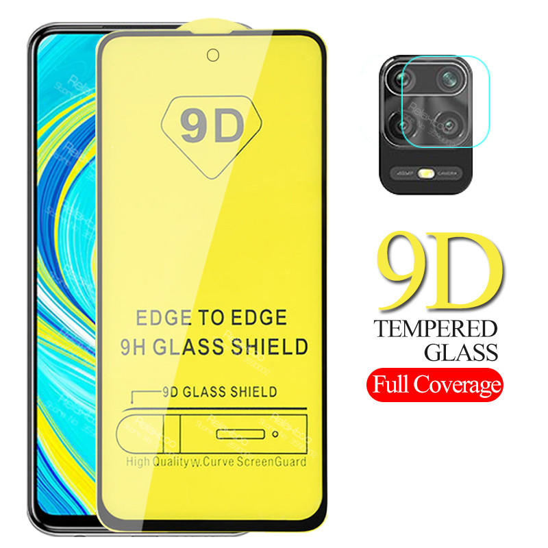 2 In 1 9D Camera Protective Glass For Xiaomi Redmi Note 9s Screen Protector Xiomi Redmi Note 9s Pro Max Tempered Glas Cover Film