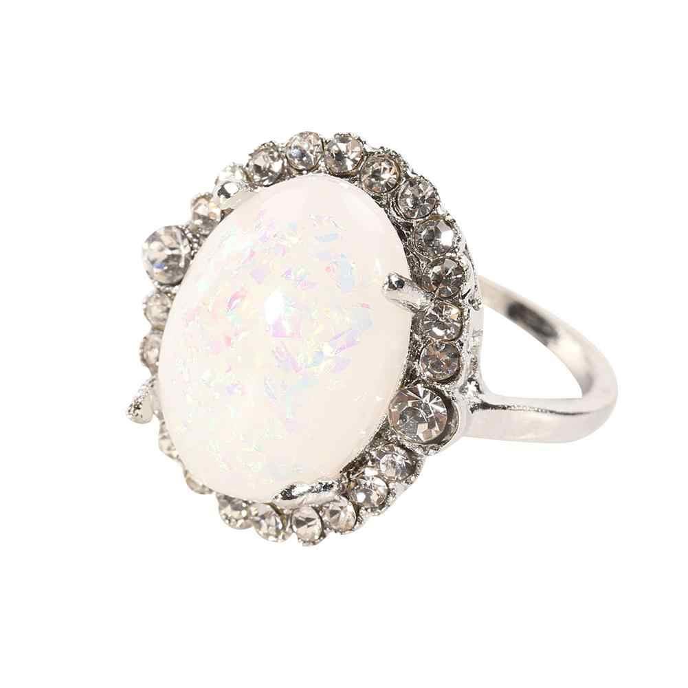 Modne błyszczące kryształki sztuczny klejnot kobiety biżuteria palec serdeczny Party prezent