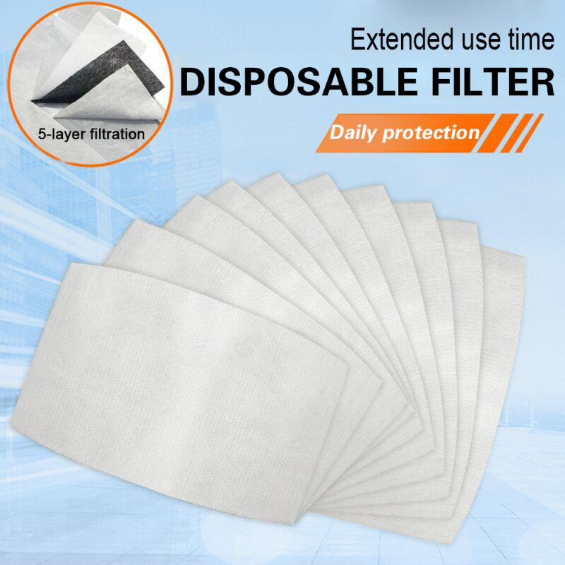 200 Pcs/Lot Pm2.5 Filter Paper Anti Haze Mouth Mask Anti Dust Mask Activated Carbon Mask Filters Health Care Face Mask Filter