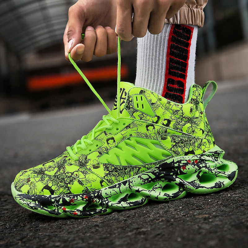 Schoenen Mannen Sneakers Mode Mannen Graffiti Sneakers Chunky Comfortabele Casual Schoenen Mannelijke Outdoor Wandelschoenen Tenis Masculino