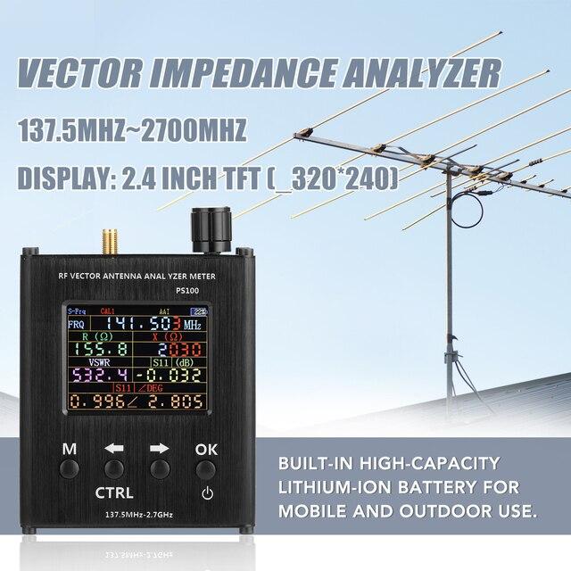Ps100 137.5 mhz analisador de antena de 2.7 ghz medidor de onda permanente testador de antena rf analisador de impedância de vetor