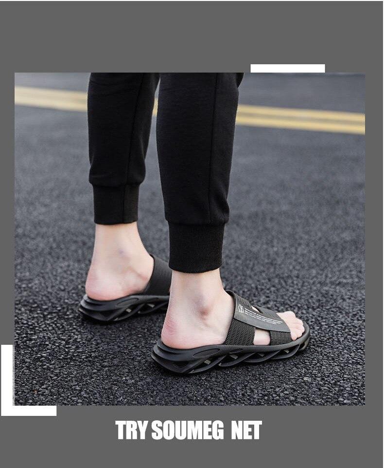 Coslony homem chinelos de verão ao ar