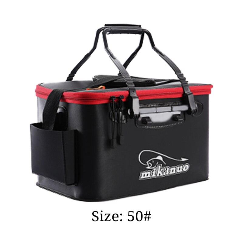 DKSAHEMTB EVA – sac de pêche Portable, pliable, épais, boîte de pêche en direct, seau de réservoir, Camping, matériel de pêche, sac de rangement MJ