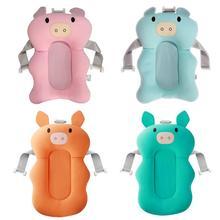 Recién Nacido ducha de aire portátil cojín cama bebés bebé Baño de bebé seguridad Soporte para Baño cojín plegable Baño