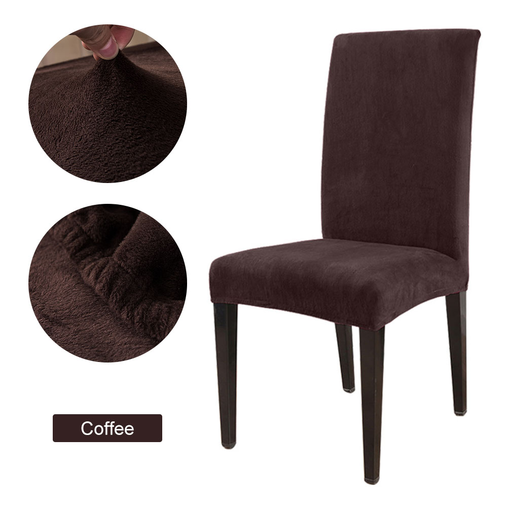 1 to 6 Pcs Removable Chair Cover Made with Stretchable Thick Plush Material for Banquet Chair 20